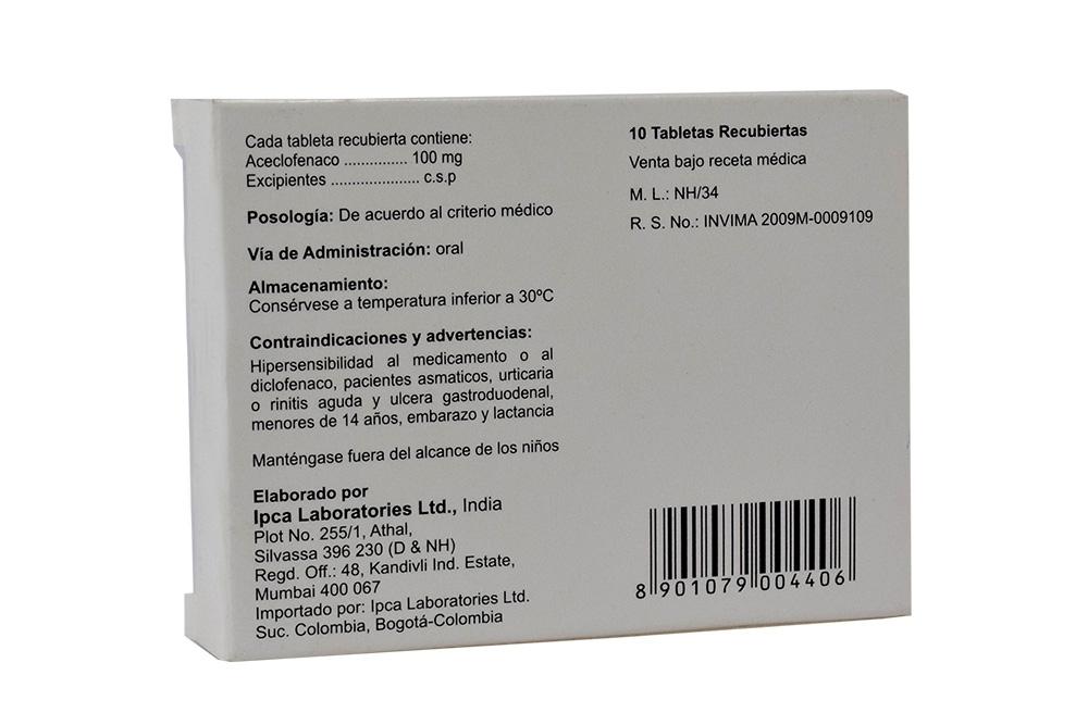 Aceclofenaco-Indicaciones